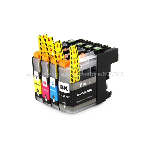 4pcs Compatible ink cartridge Brother LC223 LC221 for MFC-J5720DW MFC-J480DW MFC-J680DW MFC-J880DW DCP-J4120DW DCP-J562DW