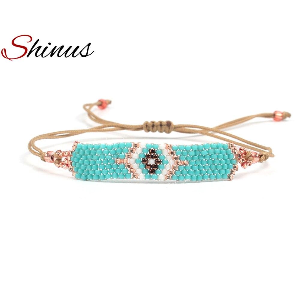 Shinus Pulseira Feminina Bracelets Women Bracelet Boho Friendship Jewelry Pulseras Seed Beads Weave Handmade Bijoux Femme Gifts