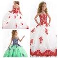 2016 Da Menina Da Representação Histórica Vestidos de casamento Ball Vestido Performance de Palco Vestidos de Aniversário Vestido de Festa Longo Princesa Vestido Da Menina Flor