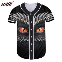 UJWI Mens 3D T Shirts Buttons Homme Streetwear Tees Shirts Hip Hop The Lord Of The Rings Custom Made Baseball Jersey Tops Summer