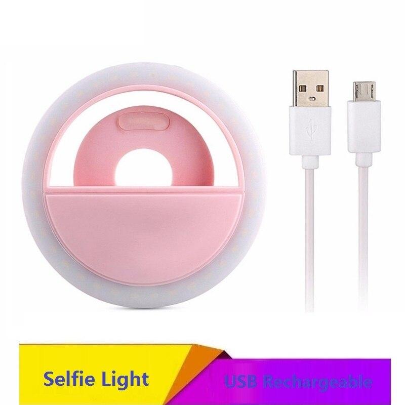 JOYTOP recargable Luz de relleno 36 Led Cámara mejora fotografía Selfie anillo luz para ipad teléfono inteligente Selfie Flash Luz