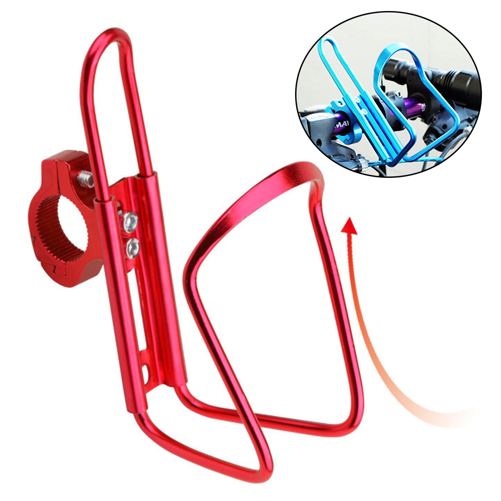 Dropship 1pc Aluminum Mountain Bicycle Double Water Bottle Holder Cage Rack Cycling Drinks Holder Outdoor Riding Drink Holder 1