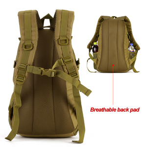 Image 3 - Waterproof 25L Molle Tactical Bag Mens Military Rucksack Nylon Climbing Bag Fishing Hiking Hunting Backpack For 14 Laptop