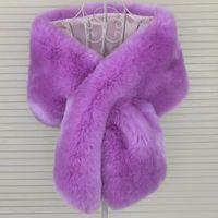 High quality winter coat collar decor faux fur shawl hat decor faux fox fur scarf fuax raccon fur scarf multi colors coat decor