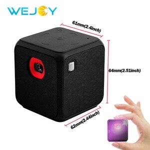 Умный мини-проектор Wejoy, портативный проектор DLP с поддержкой Android 7,1, Wi-Fi, домашний кинотеатр со светодиодной подсветкой, видеопроектор fhd