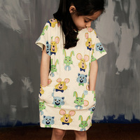 New Baby Girls Dresses Summer 5 Year Old Girl Dress Boutique Party Dresses With Mice And