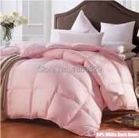 220 240cm Plus Size Duvet White Duck Down Edredon Winter Comforter Sateen Jacquard Feather Quilt Blankets