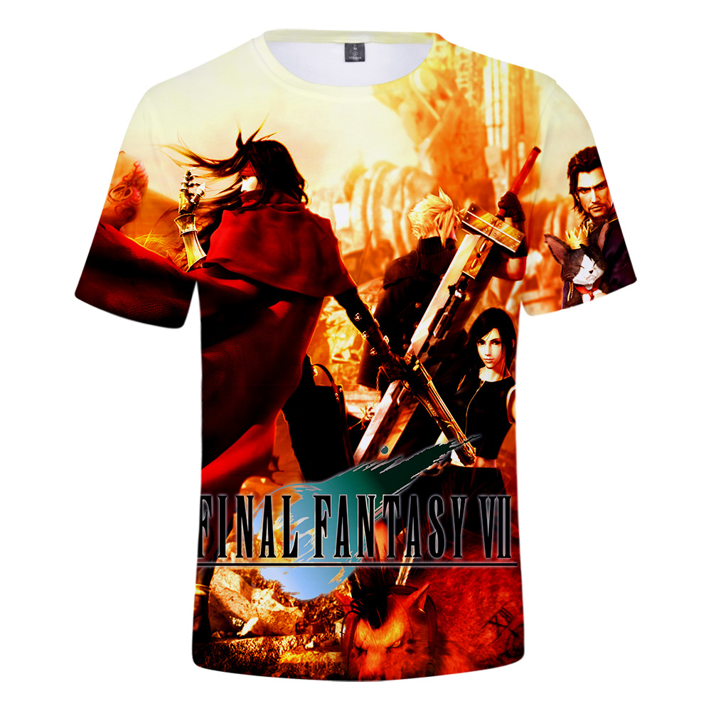 3D Print Final Fantasy VII t shirt Men Cool Shirt Summer Leisure Breathable tshirt FF7 Game Hip Hop Streetwear