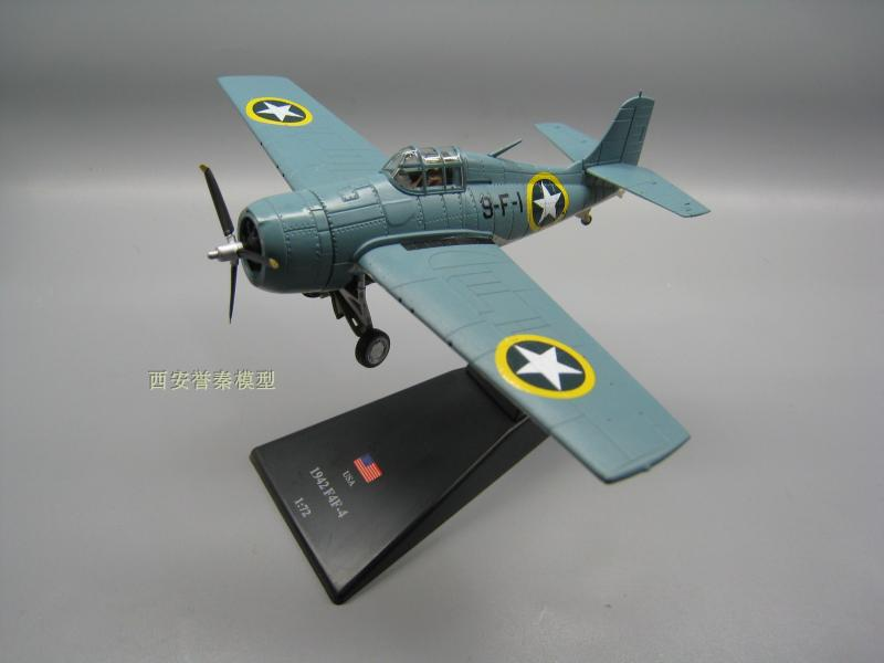 AMER 1/72 Scale Military Model Toys World War II USA F4F-4 Wildcat Fighter Diecast Metal ...