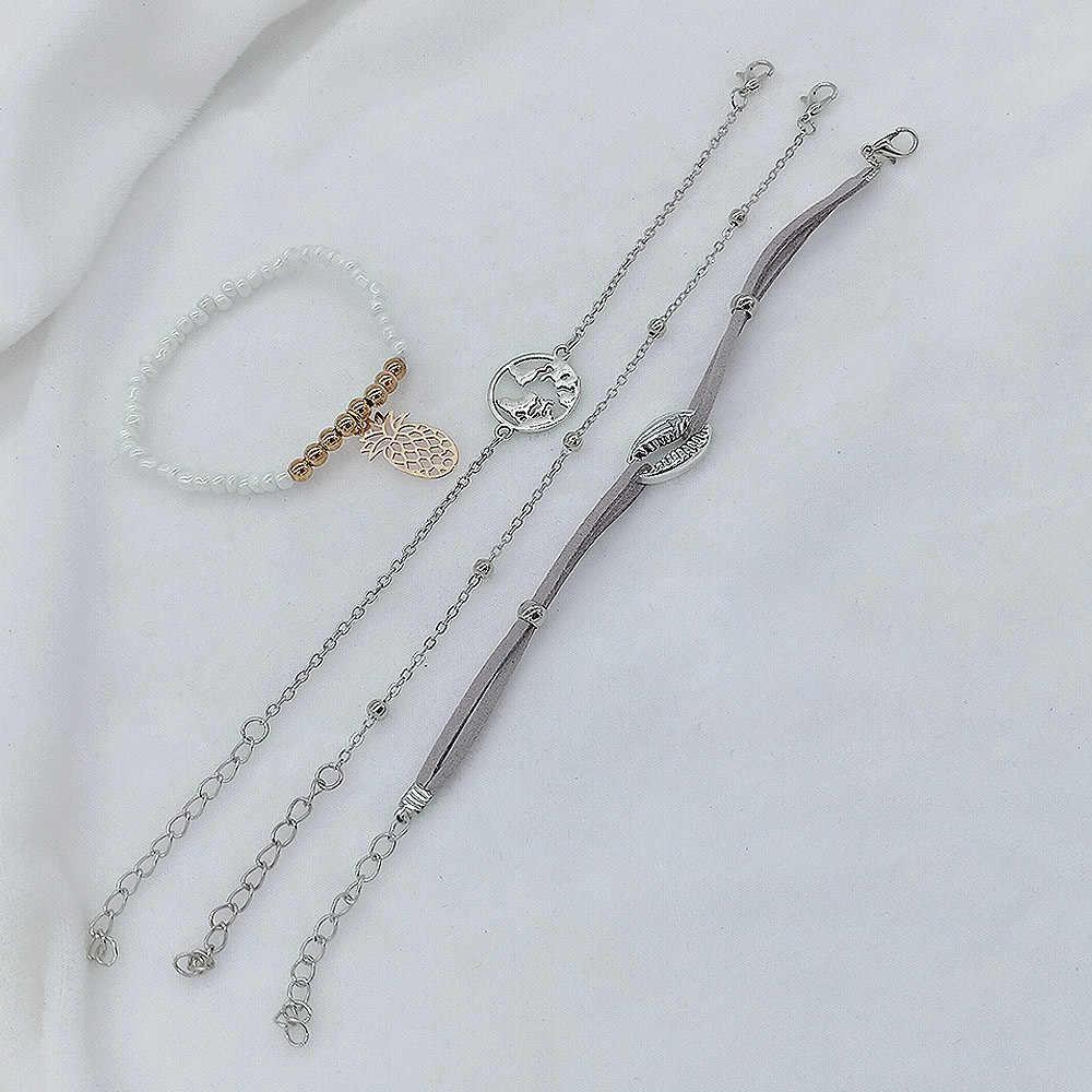 Tangkap Aksesoris Cantik Ini untuk Anda 5 Pcs Shell Bohemian Rantai Geometri dan Gelang untuk Wanita Pesta Pantai Pesona Perhiasan