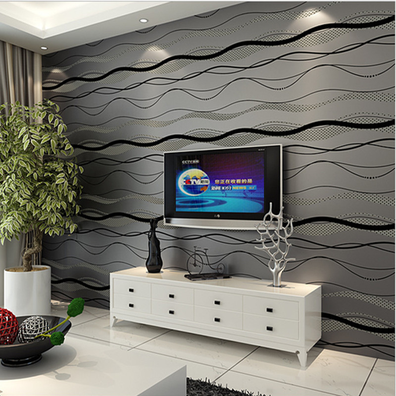 Non Woven Wallpaper Roll Modern Simple Style Surface Striped Wall Paper 3D Desktop Wallpaper for Living room papel de parede wallpaper modern anchos travelling boat modern textured wallcoverings vintage kids room wall paper papel de parede 53x1000cm