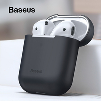 Baseus Earphone Case For AirPods Colorful Silicone Cover For AirPods 2 1 Case Wireless Bluetooth Earphone Case For Airpods 2019