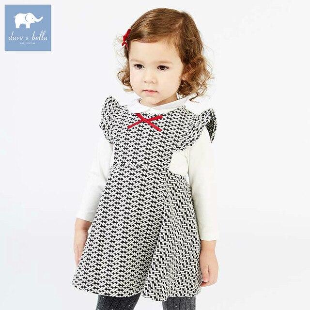 c7a443b2c DB7632 dave bella autumn infant toddler baby girl's sleeveless dresses kids  birthday party dress children lovely clothing 1 pc