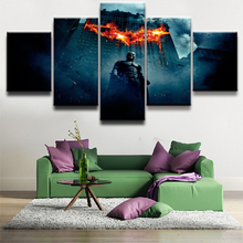 Batman Movie HD Print Picture Painting 5 Pieces Canvas Wall Art Living Room Home Decor Artwork