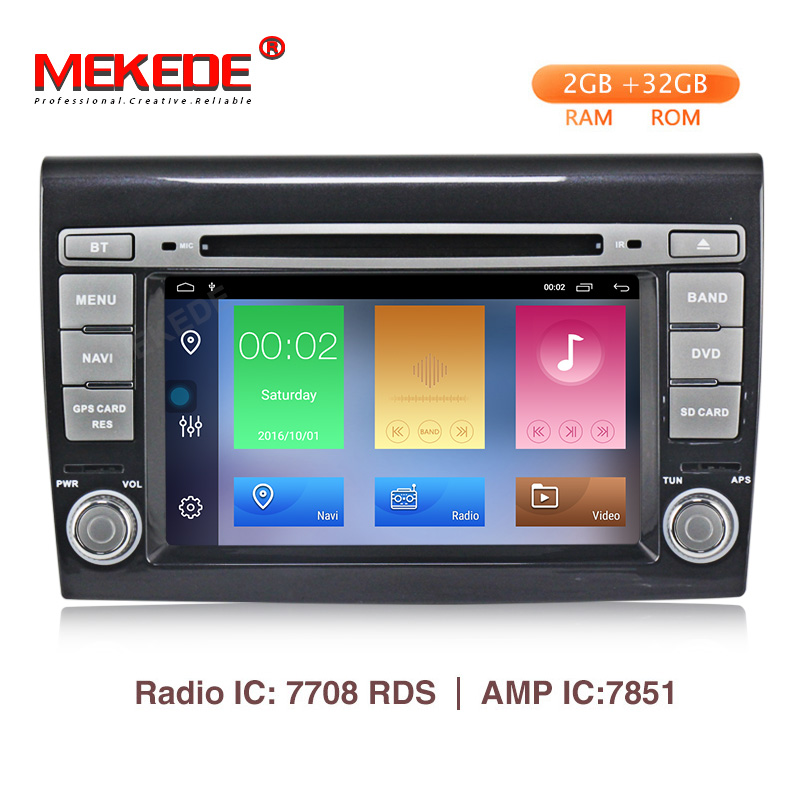 MEKEDE HD Car Multimedia Player Android 9.1 GPS 2 Din Stereo System For Fiat Bravo 2007-2012 4 Core 2GB RAM Radio am fm Wifi USBMEKEDE HD Car Multimedia Player Android 9.1 GPS 2 Din Stereo System For Fiat Bravo 2007-2012 4 Core 2GB RAM Radio am fm Wifi USB