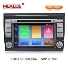 MEKEDE HD Автомобильный мультимедийный плеер Android 9,1 gps 2 Din стерео система для Fiat Bravo 2007-2012 4 ядра 2 ГБ ram радио am fm Wifi USB