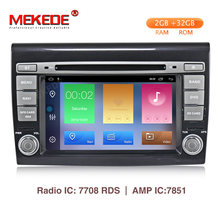 Mekede HD Mobil Multimedia Player Android 9.1 GPS 2 DIN Stereo Sistem untuk Fiat Bravo 2007-2012 4 Core 2GB RAM Radio AM FM WIFI USB(China)