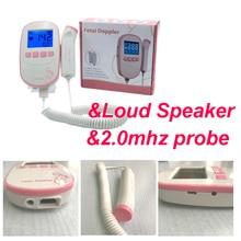 large 2.4inch screen with Loud speaker Fetal Doppler Monitor Baby Heart Beat +Backlight LCD display