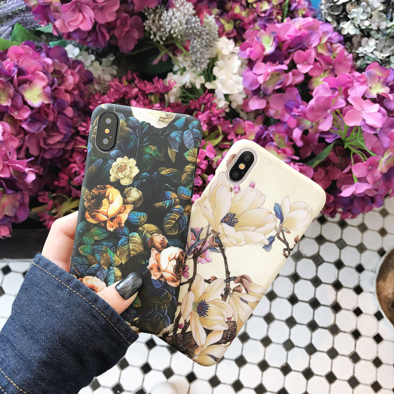 Color Painting Leaf Flower Hard Shell For Iphone 5 To Xr