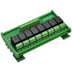 إلكترونيات-صالون دين السكك الحديدية جبل 8 سبدت السلطة التتابع واجهة وحدة ، 10A التتابع ، 24 فولت لفائف.