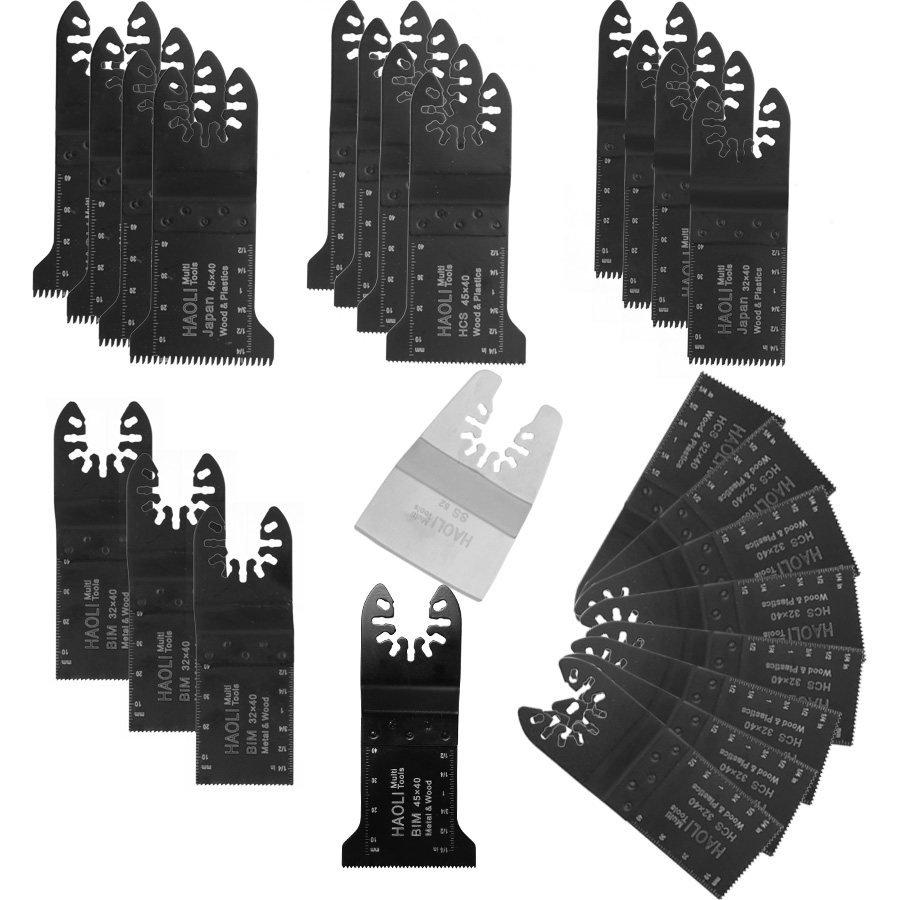 quick change 25 pcs Oscillating Tool Saw Blades Accessories fit for Multimaster power tools as Fein, TCH etc