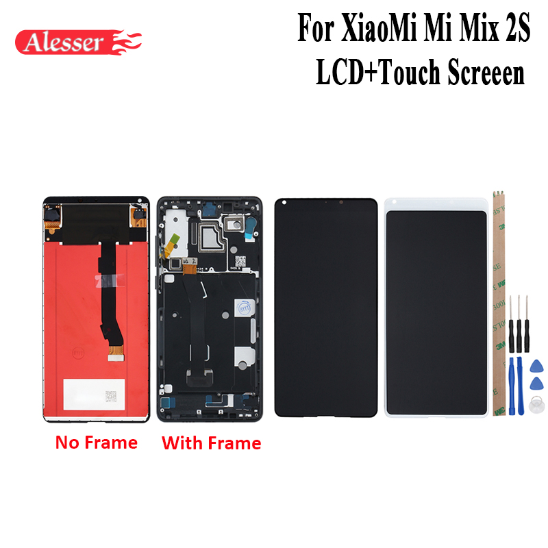 Alesser For XiaoMi Mi Mix 2S LCD Display and Touch Screen Frame Assembly Repair Parts Tools