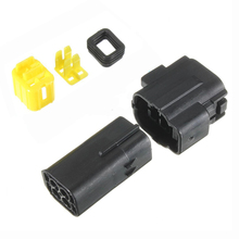 Black Waterproof Electrical Wiring ELECTRICAL WIRING Multi connectors 2 3 4 6 PIN Size: 4 Pin Sets: 1 Sets(China)