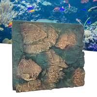 Simulation Rock Fish Tank Background 3D Foam Rock Aquarium Stone Background Aquatic Pet Board Backdrop Aquarium Decorations