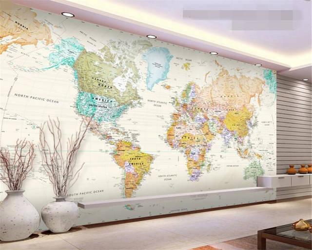 Us 885 41 Offbeibehang 3d Wallpaper Custom Mural 3d Room Wallpaper World Map Painting Wallpaper Wall 3d Modern Decoration Photo Murals In