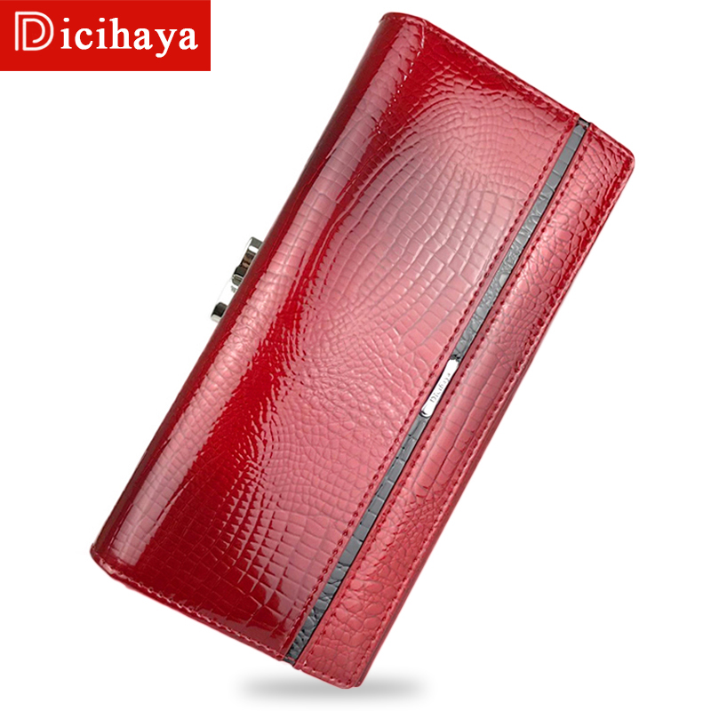 DICIHAYA Purses Women Zipper Wallets Brand Design High Quality Leather Wallet Female Hasp Fashion Alligator Long Women Wallets high quality women wallet brand design genuine sheepskin leather wallet female hasp fashion long women wallets and purses x37