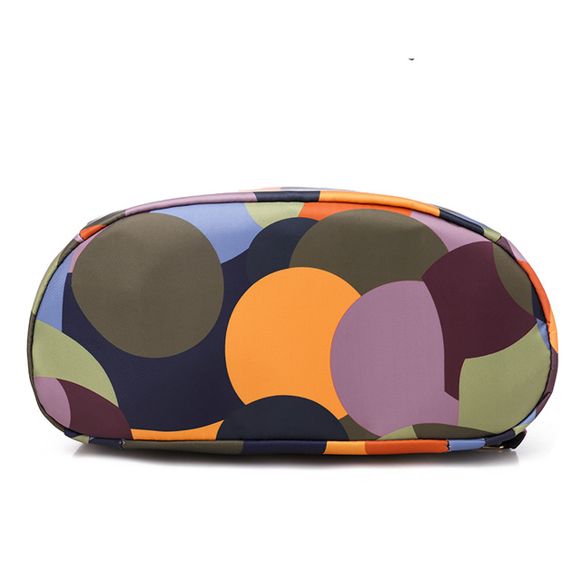 High Quality Waterproof Oxford Women Backpack Fashion Colored circles 6