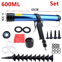Pneumatic Caulking Gun set 600ml Glass Glue Air Rubber Guns Tool Caulking tools