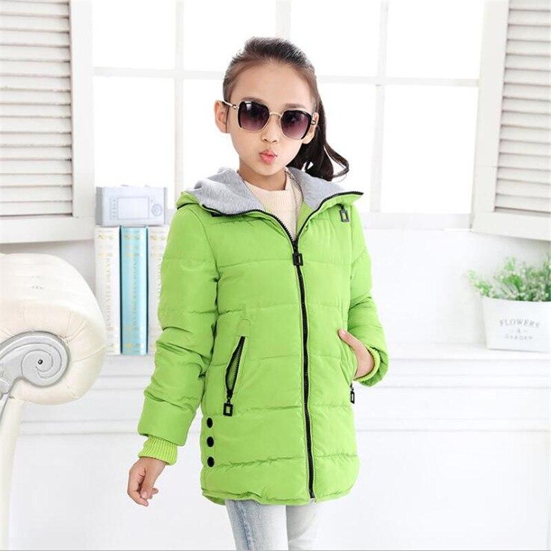 d49453d36026 New 2017 Children Winter Wear Jacket Girl Coat Long Style Self ...