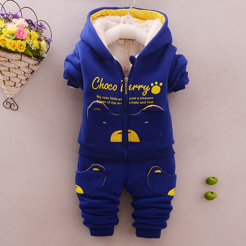 New Winter Set Baby Boys Clothing Sets Warm Sports Tracksuits for Boy Two-piece Suit Costumes for Children 0-3years
