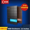Ssk USB 3.0 HDD 2.5 polegada SATA HDD CASE porta Serial caixa de disco rígido externo disco rígido HDD box