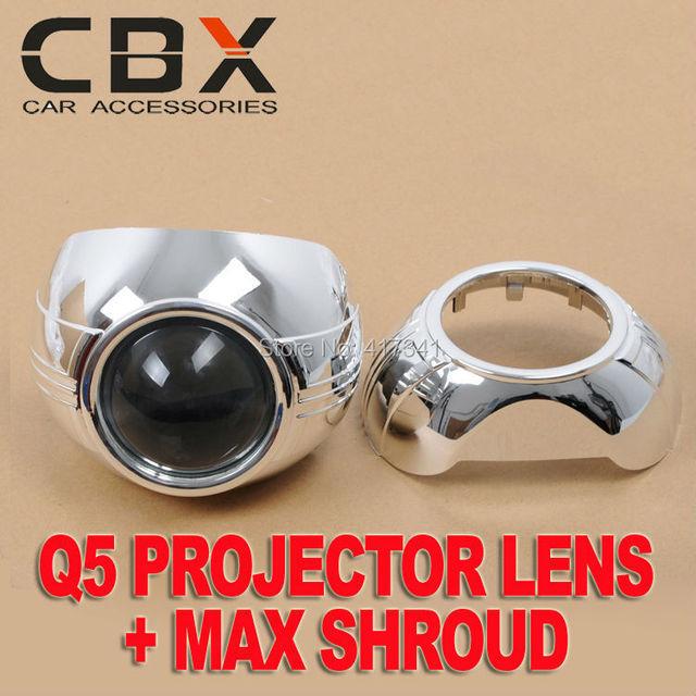 D2H D2S Koito H4 Do Farol Do Carro de 3 polegadas Fácil de Instalar MAX-A Q5 Bi-xenon escondeu lente do projetor mortalha Projetor Máscara LHD RHD