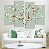 Abstract Flower Painting 4 Panels Modern Oil Painting On Canvas Wall Art Gift Top Home Decoration H162 modular