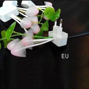 Image 4 - 참신 미국 및 eu 플러그 밤 빛 유도 꿈 버섯 곰 팡이 led 램프 3 led 버섯 램프 led 야간 조명