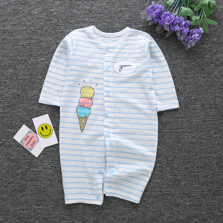 2018 summer new style baby rompers newborn girl boys clothes Long Sleeve Jumpsuit Cotton Comfortable pajamas infantis menino