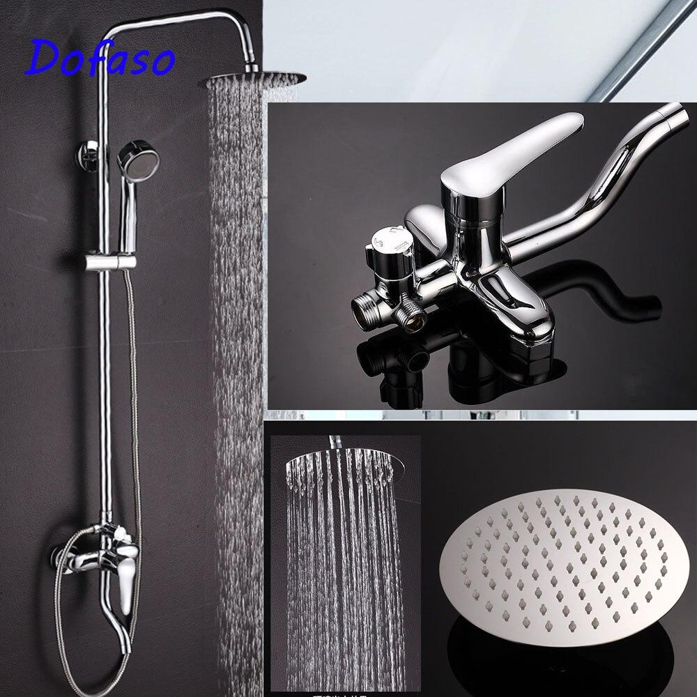 Dofaso польский нержавеющая ванная комната смеситель для душа с 8 круглые и квадратные головы Большой тропический душ установить