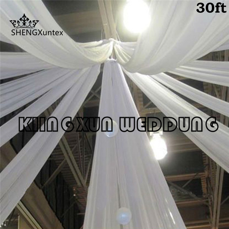 Good Looking 100% Ice Silk Roof Ceiling Panel Backdrop \ Canopy Drapery Curtain For Wedding Or Party Decoration