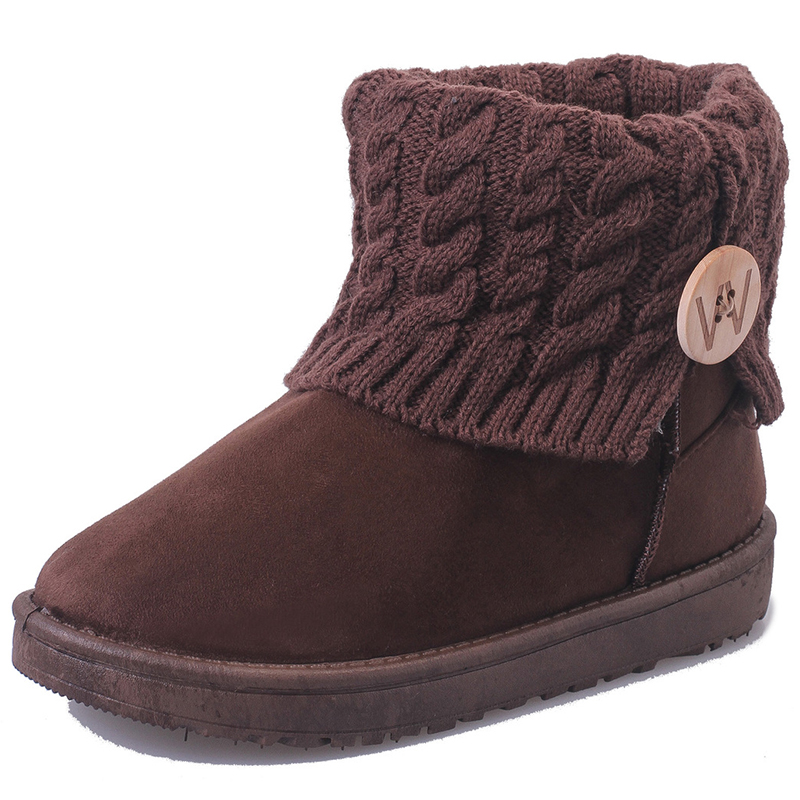New Women's Boots Winter Warm Snow Boots Mid Calf Boots Women Ladies Girls Thick Plush Flock Women Shoes new fashion superstar brand winter shoes embroidery snow boots tassel women mid calf boots thick heel causal motorcycles boots