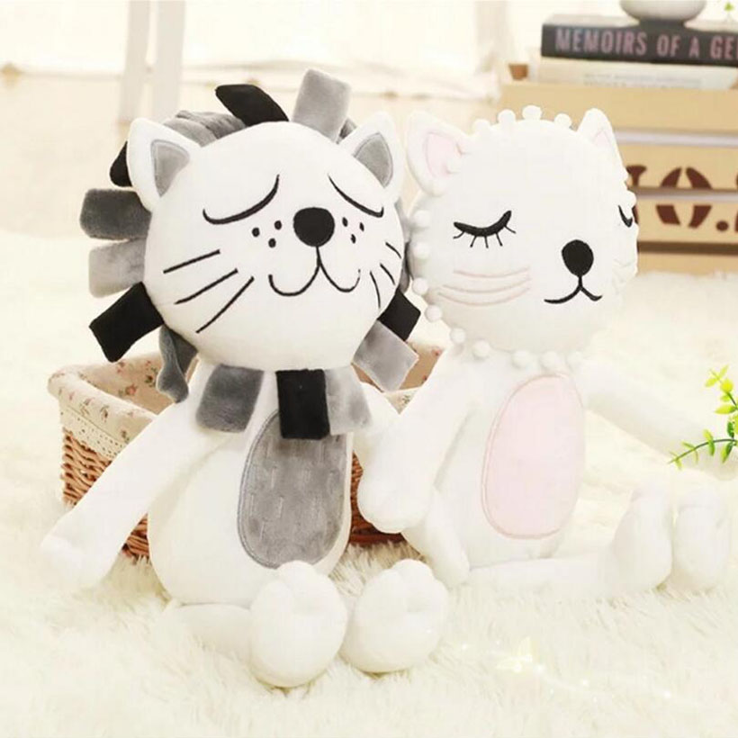 Baby Pillow Kid Stuffed Toys Girls Boys Lion Cat Dolls Children Room Decorative Enfant Photography Props Almohadilla Mat Pillows