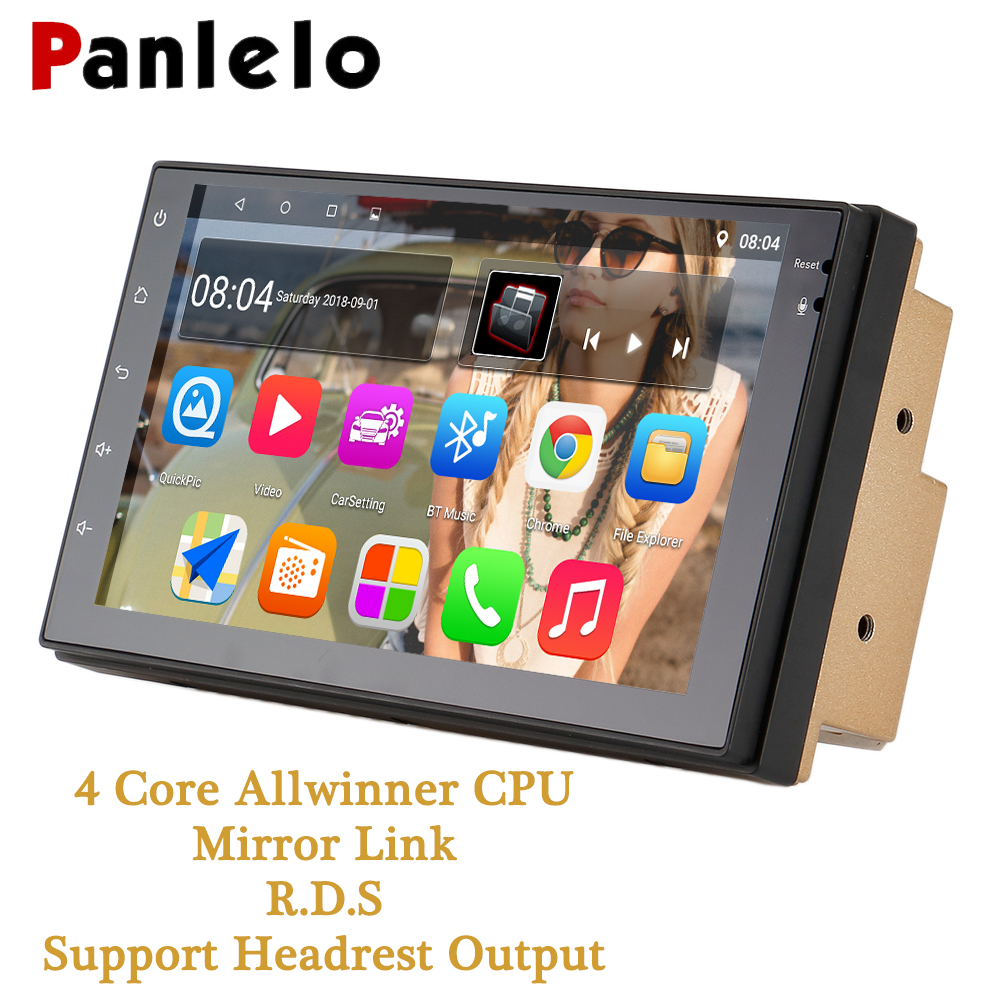 Panlelo 2 Din Android автомобильный Радио 7 1080 P 4 ядра 2din Android головное устройство gps аудио автомобильный мультимедийный плеер для Chevrolet Cruze