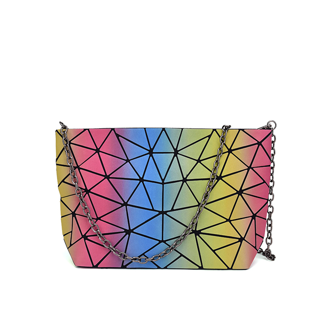 NEW BaoBao Luminous Reflective Material Designer Bag Women Geometry Laser  Handbags High Quality Luxury Brand Folding Bags a7273795f9d81
