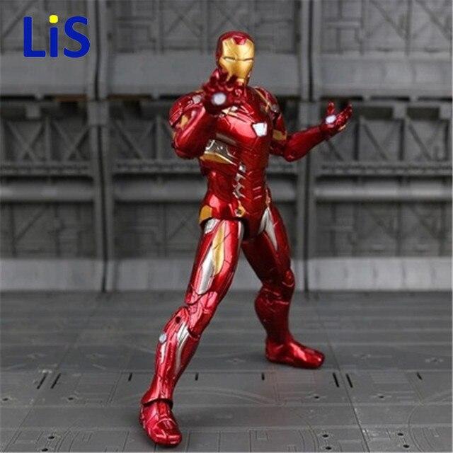 Экшн-Фигурка «мстители», «Железный человек», модель 20 см, MK42, MK43, кукла Железный человек, ПВХ, игрушечная фигурка, acgn, игрушки для детей