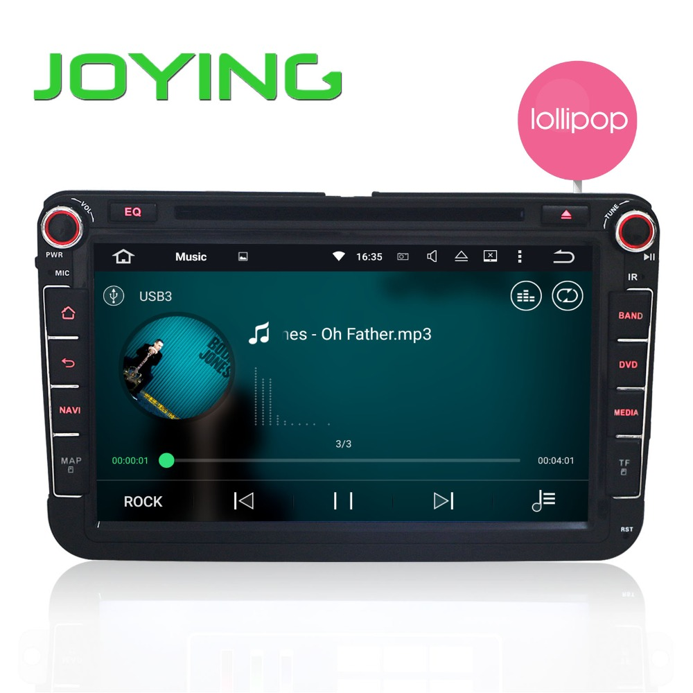 2 Din Car Radio Stereo Android 5.1 Quad Core Audo DVD Player HD 1080p Navigation for VW Skod POLO GOLF PASSAT CC JETTA TOURAN