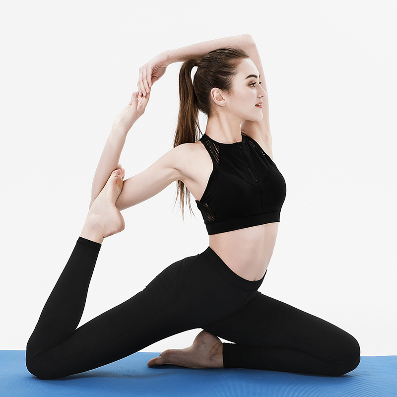 Women Sport Yoga Pants High Waist Tight Leggings Solid Color Blue Push Up Hip Legging Fitness Gym Yoga Pilates Training Trousers