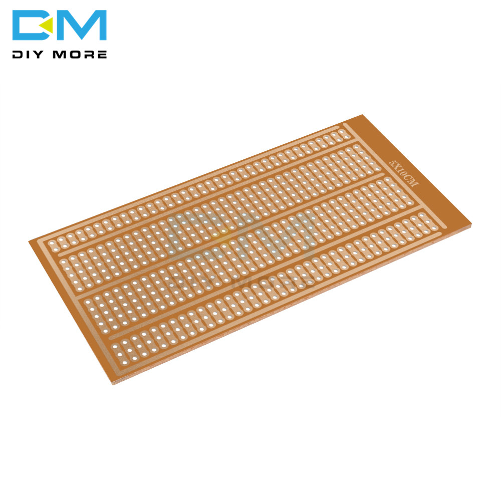 10PCS Single Side Wholesale Universal 5x10cm Solderless PCB Test Breadboard Copper Prototype Paper Tinned Plate Joint Holes DIY