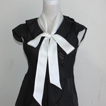 solid girl women Natural Silk skinny Scarf long Scarves Neckerchiefs Slim Thin Belt Sash Ribbon Choker Neck Tie Accessory #4066